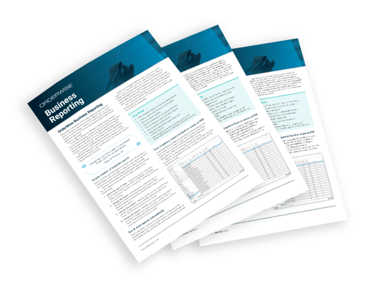 OrderWise Business Reporting Brochure