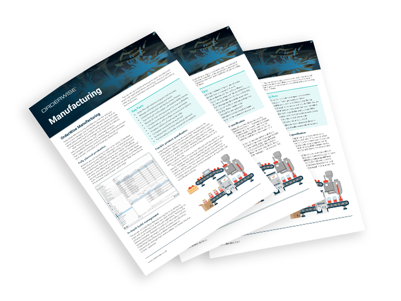 OrderWise Manufacturing Brochure